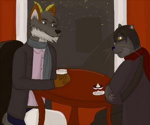 Hipster Cafe by FenrirDarkWolfe