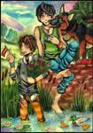 Cody and Shiro - Late Spring by Shirotaka-san