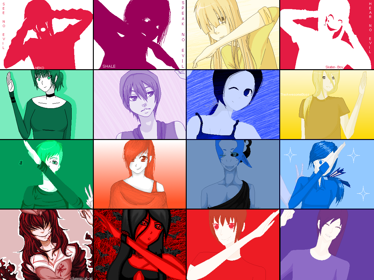.:COLLAB:DONE:.The color I HEART! by doris4u