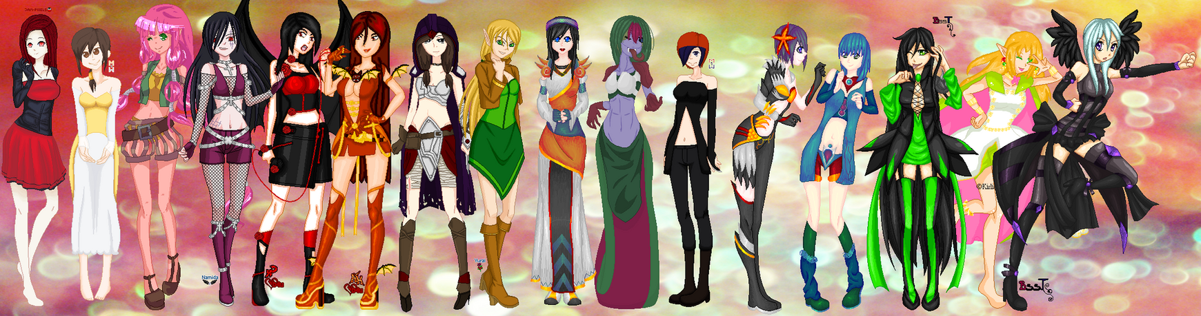 .:COLLAB:DONE:. Costume Parade by doris4u