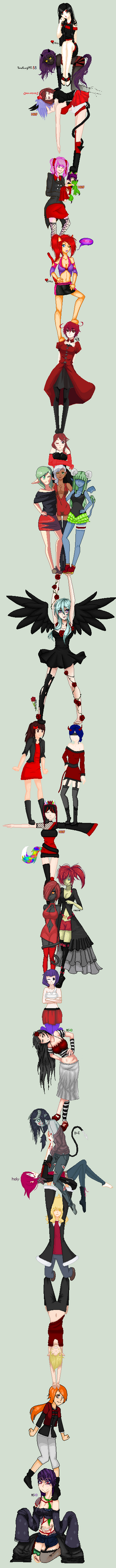 .:COLLAB:DONE:. A touch of Black and Red 2nd Power by doris4u