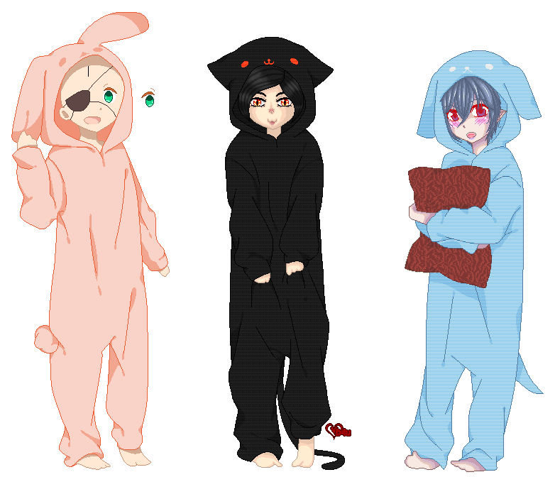 Pajamas Party .:Collab: My Part:. by doris4u
