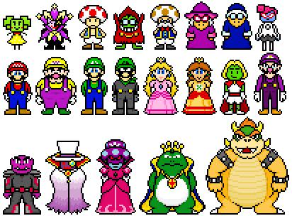 Random Mario Characters 1 by FnrrfYgmSchnish