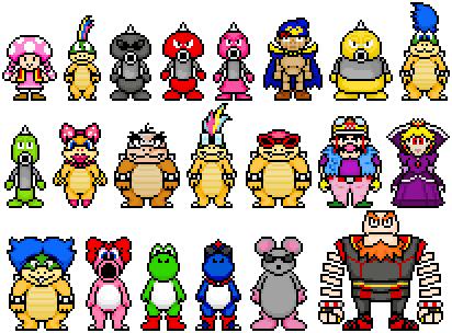 Random Mario Characters 2 by FnrrfYgmSchnish