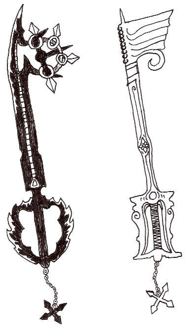 Roxas' New Keyblades by FnrrfYgmSchnish