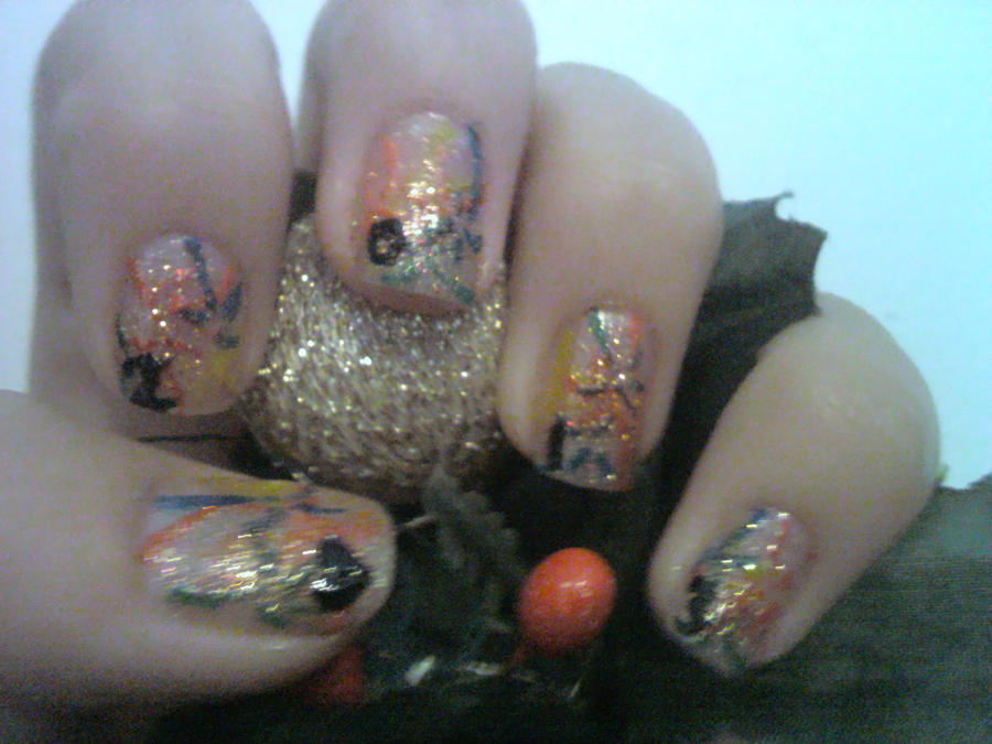 New Years Eve/ 2013 Nail Design by Experimently-Bernsie on DeviantArt