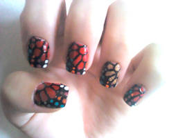 Wings Nail Design by Experimently-Bernsie