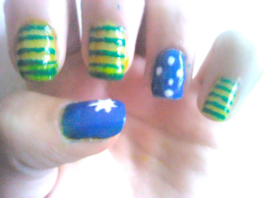 Australia Day Nail Design By Experimently Bernsie On Deviantart