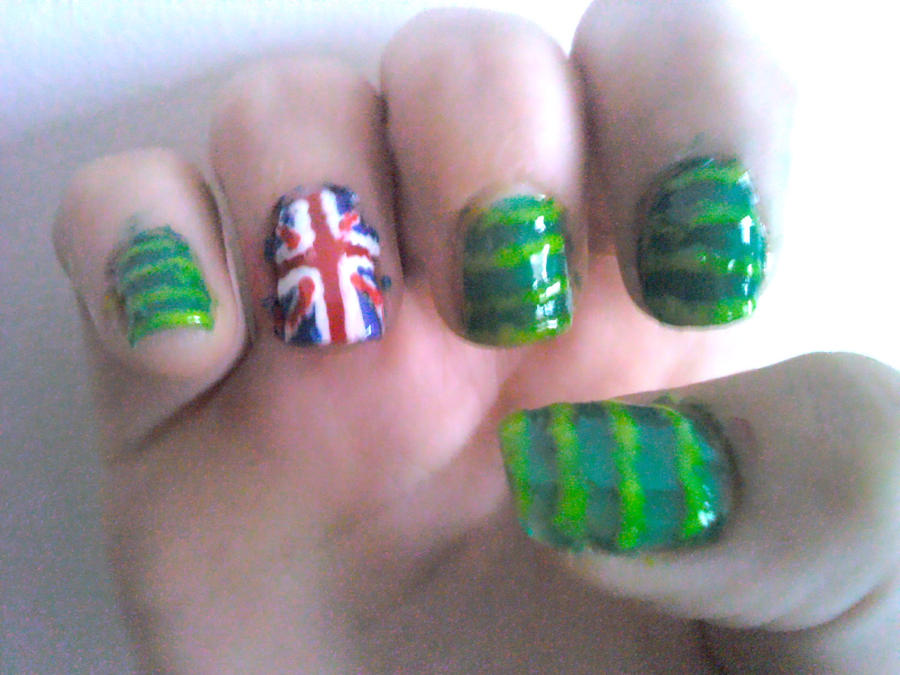 Another Australia Day Nail Design By Experimently Bernsie On Deviantart
