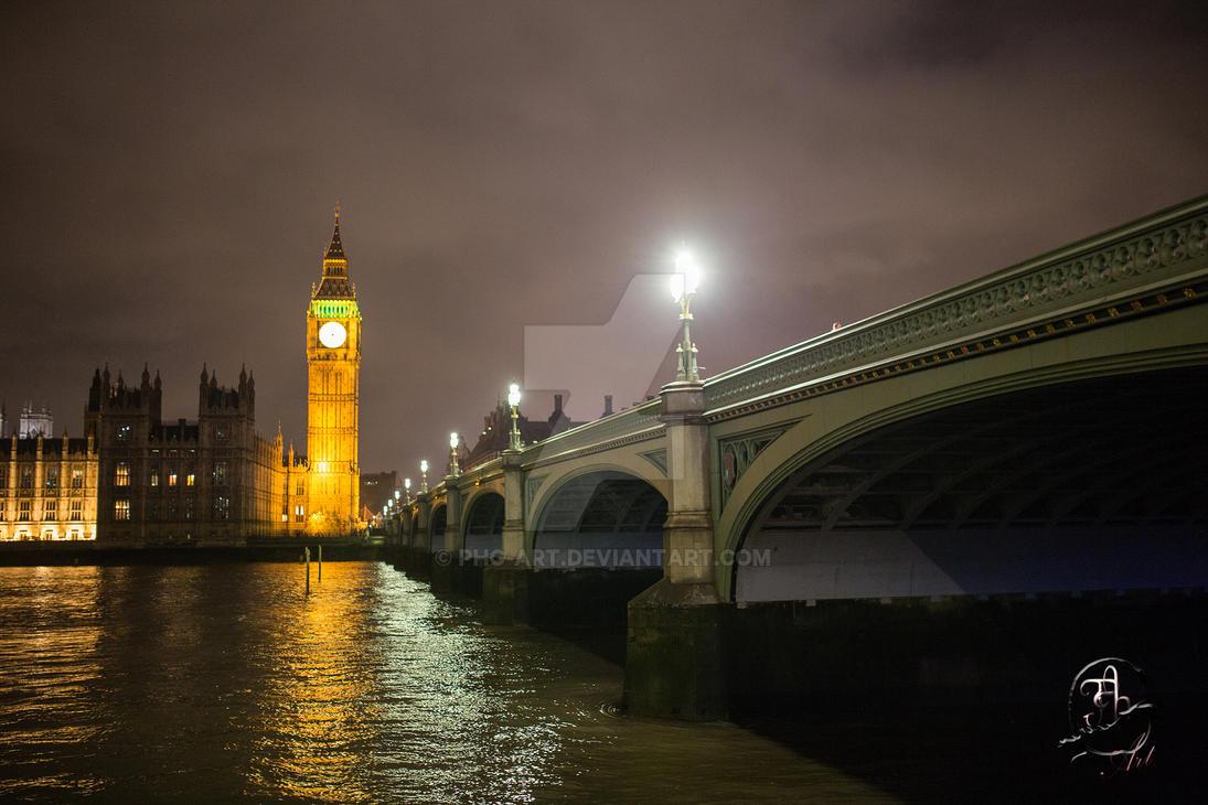 London by night...Big Ben by winter night by PhG-Art