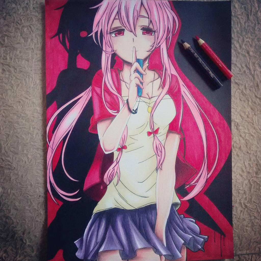 Yuno from Mirai Nikki  by FOXCWB