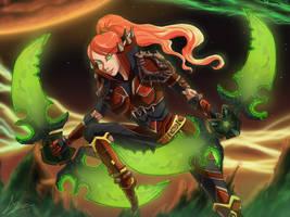Blood Elf Rogue by Darkbutterfly137
