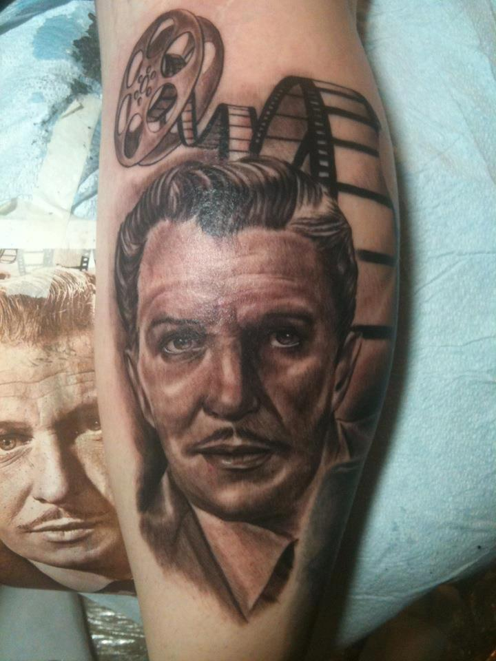 Vincent price tattoo by isaacectattoo on deviantart for Price of a tattoo