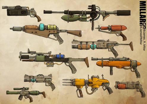 Retro-Futuristic Weapon set