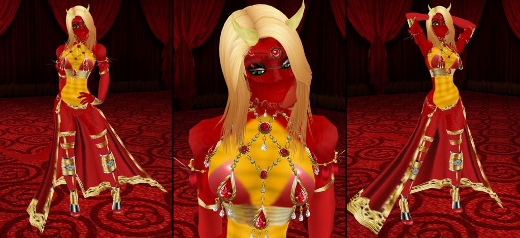 Scorchia Slave dress by Toni-Technaclaw