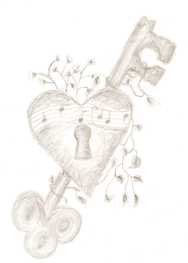 D Line Drawings Key : The key to my heart by organiclife me on deviantart