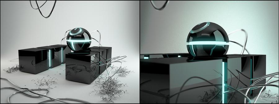 Futuristic rubbish... by K-Dee3D