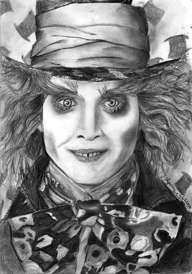 Johnny Depp Mad Hatter Drawing Mad Hatter by ayumimas...