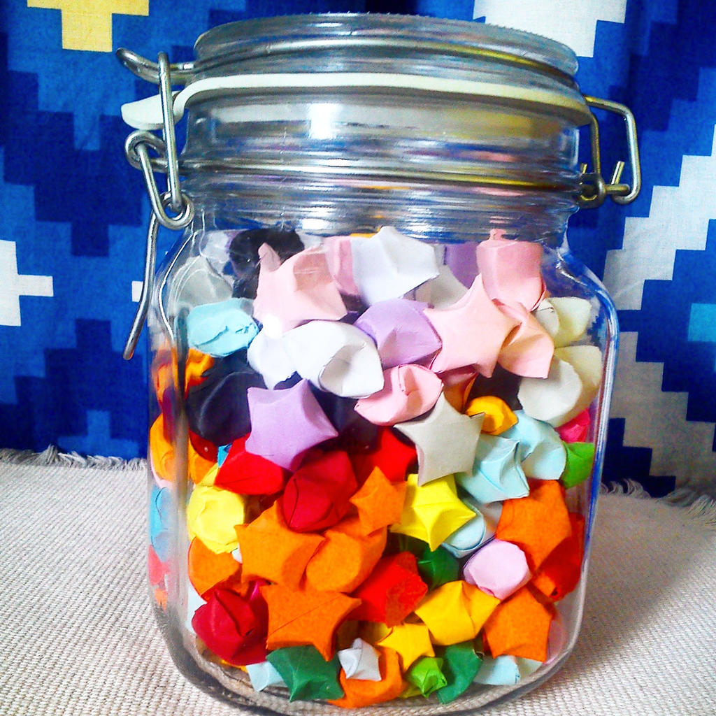 Jar Of Lucky Stars By OrigamiPunk