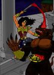 Wonder Woman vs Minotaur
