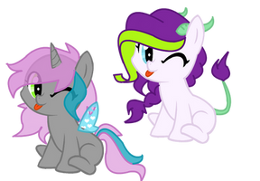 Shipping Time Request : ChryssiPuff and Sparity by Cheschire-Kaat