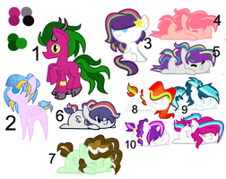 Cheap and Unwanted Adopts ::CLOSED!:: by Cheschire-Kaat
