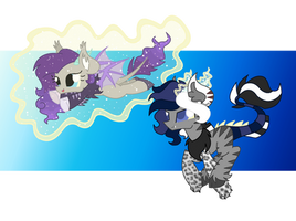 Helping Sister Fly  ~Mirage's new colors!~ by Cheschire-Kaat