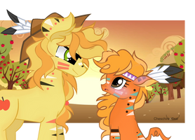 Braeburn and Little Strongheart by Cheschire-Kaat