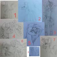 Doodle Dump no. 1 by Cheschire-Kaat