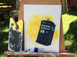 The Tardis -Painting by Cheschire-Kaat