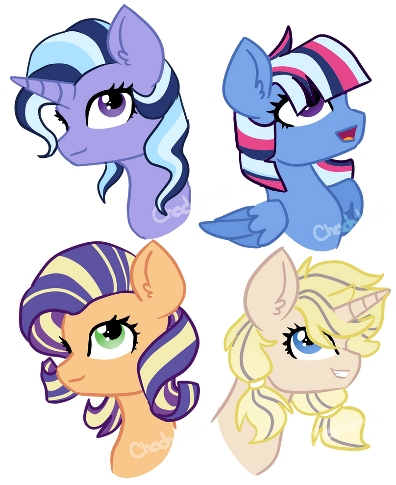 COMMISSION - Twixie + RariJack adoptables by Cheschire-Kaat