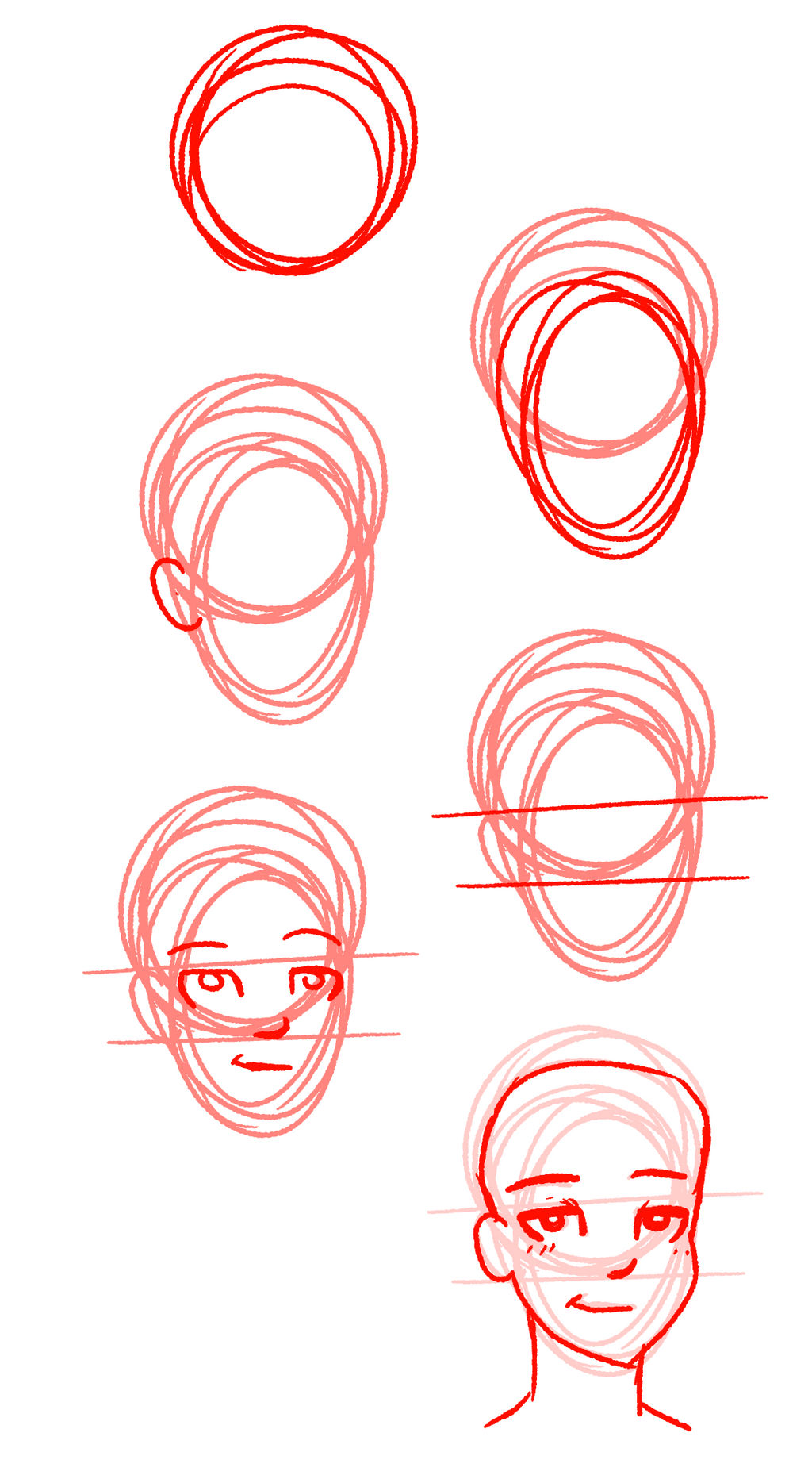 TUTORIAL - How I draw faces by Cheschire-Kaat