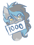 1000 watchers! by Cheschire-Kaat