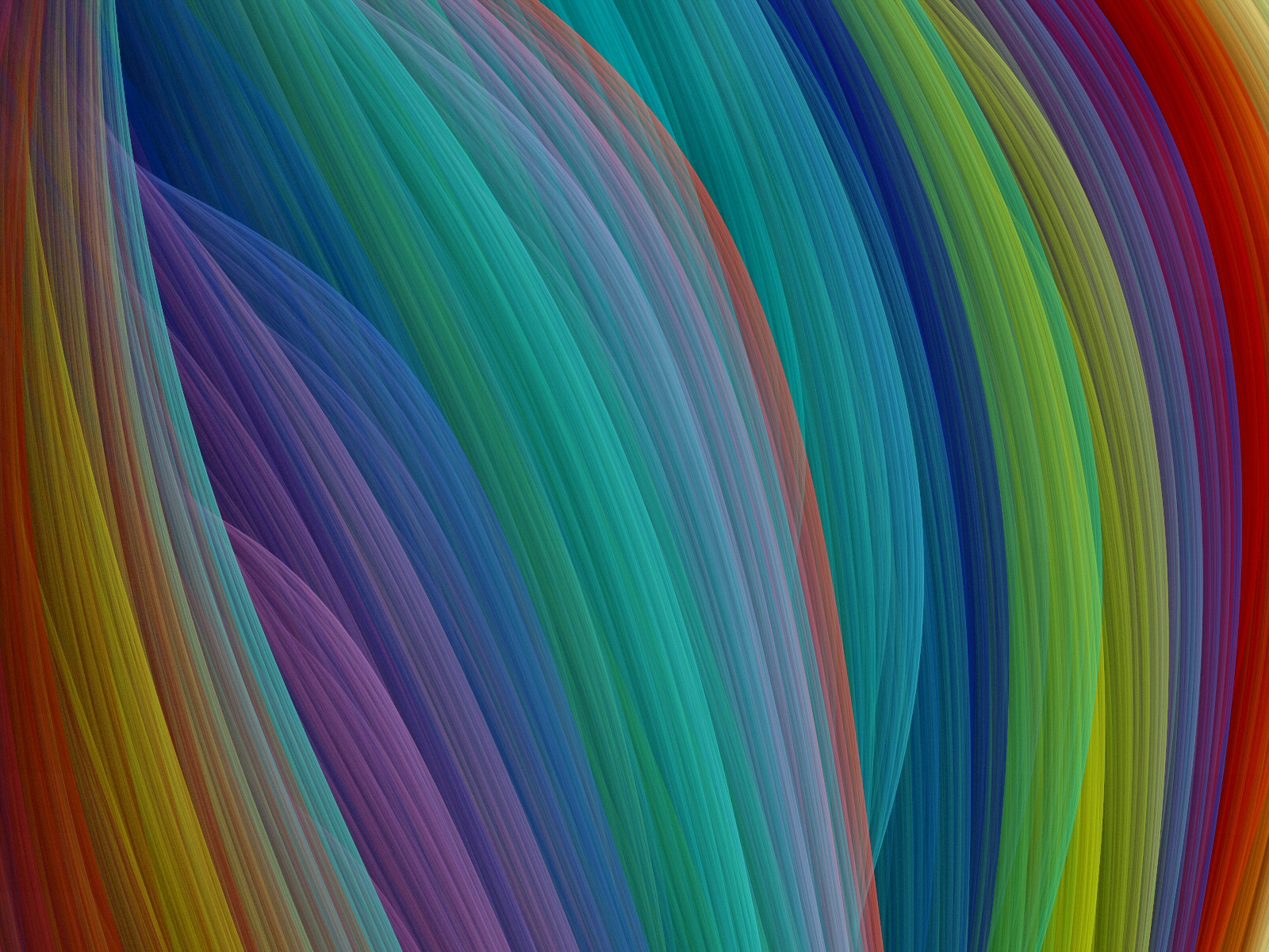 Rainbow Silk Threads by Thelma1