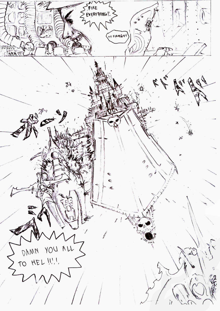 Battlefleet Gothic Manga Adaptation by sciencevsart