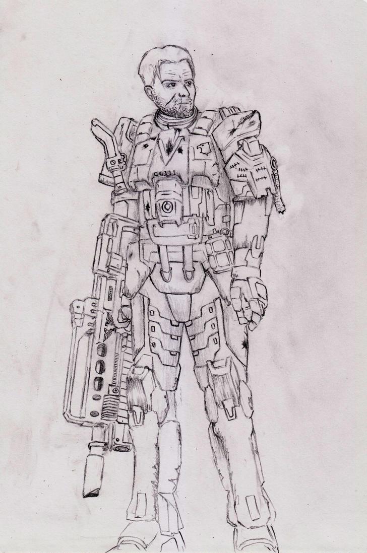 Sergeant Johaan of the Harakoni Warhawks by sciencevsart