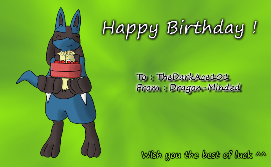 Lucario birthday gift by Dragon-Minded on DeviantArt