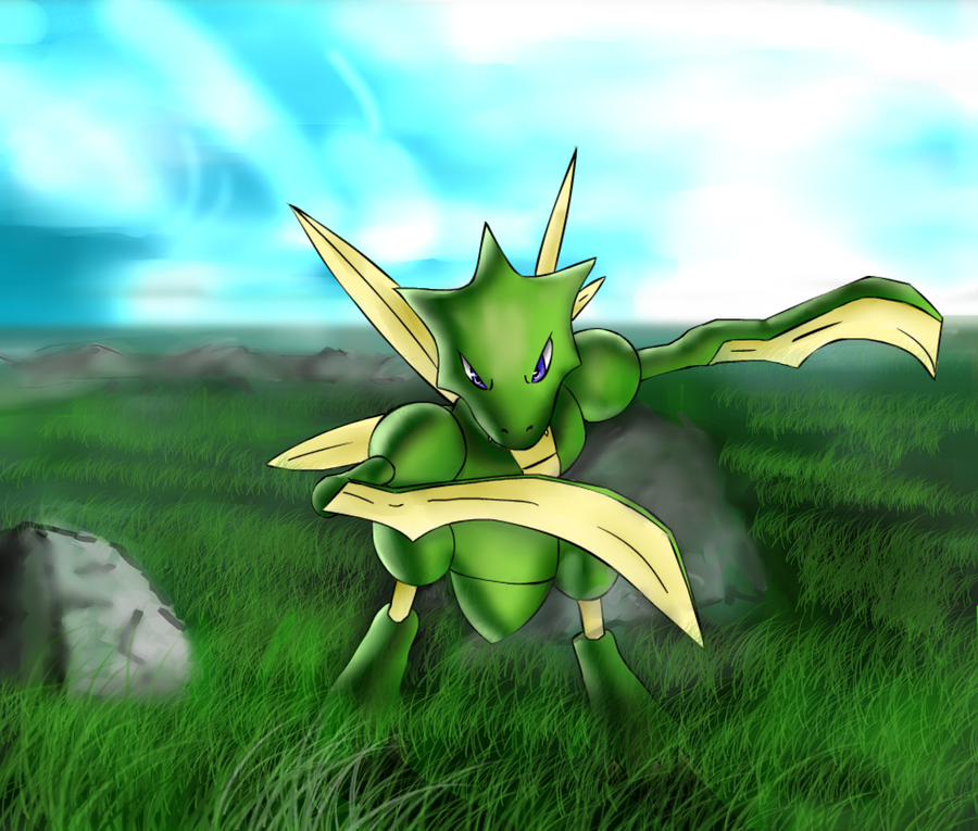 Scyther collab by dragon minded on deviantart - Scyther wallpaper ...
