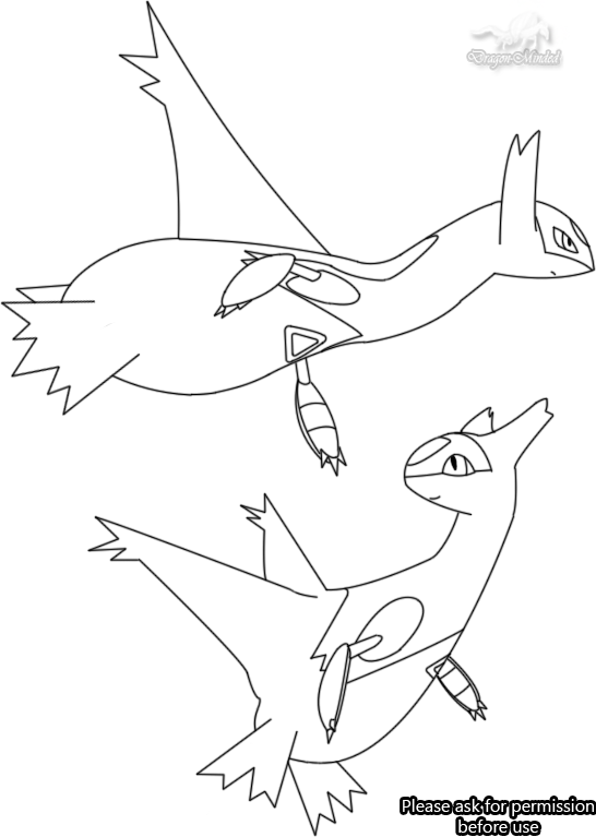 latias and latios coloring pages - photo#4