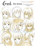 Rin Kinen- Face expression sheet
