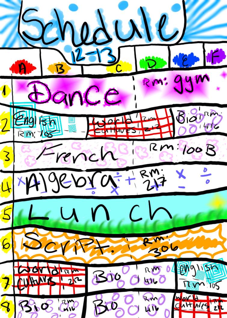 my school schedule
