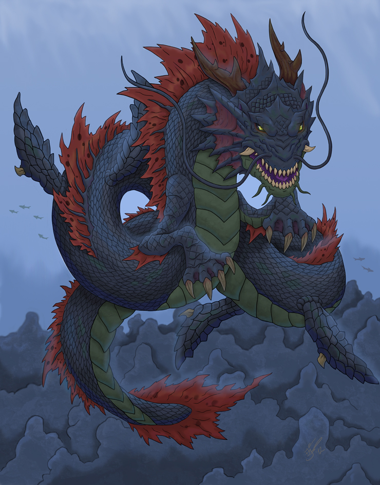 впереди картинки императорского дракона левой стороны