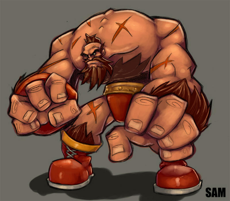 .Zangief- by slur
