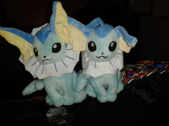 Two Cute Little Vaporeons
