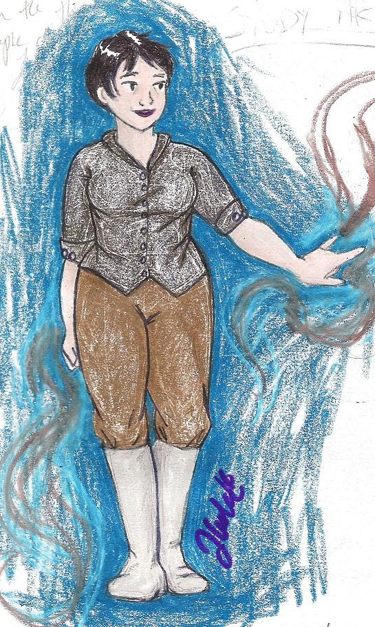 Sketchy Magic Lady by dash-of-balder
