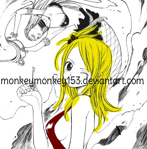 Fairy Tail Manga [page] - Lucy and Aquarius W.I.P. by monkeymonkey153