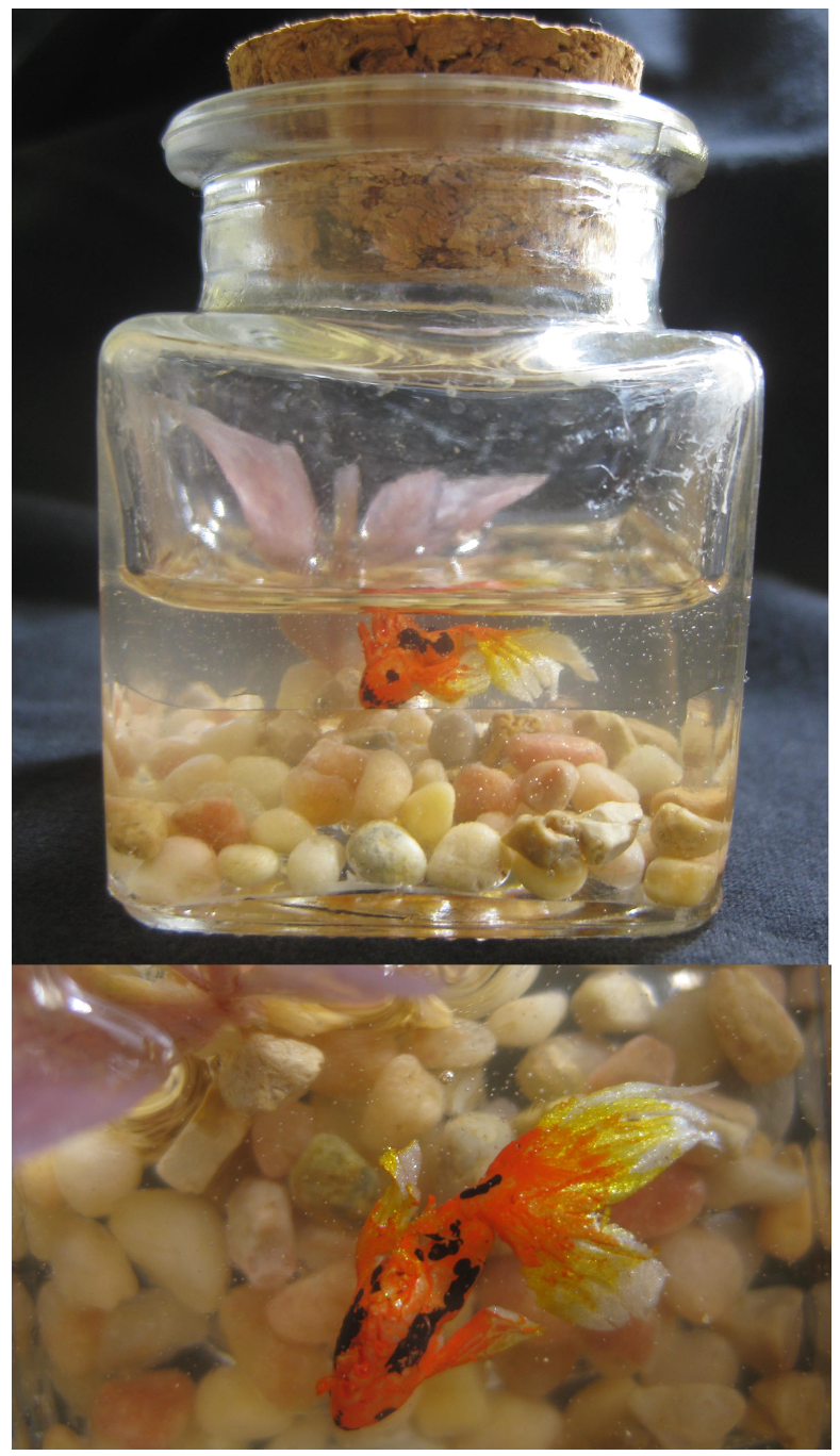 Koi fish in a jar by journeyhorse on deviantart for Fish in a jar