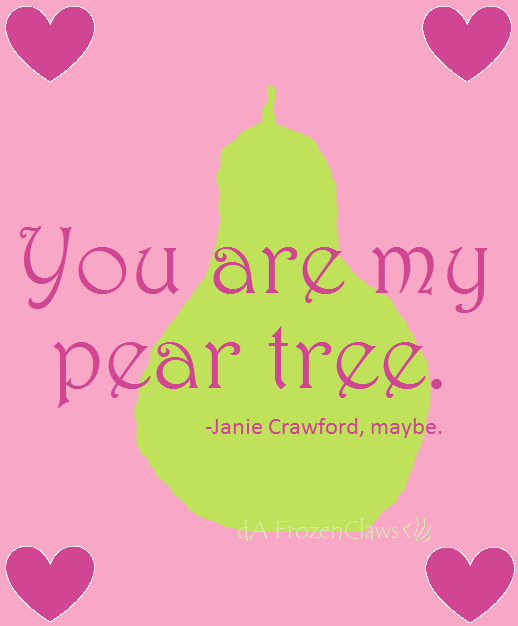 """their eyes were watching god pear tree essay In one part of """"their eyes were watching god"""" janie lies underneath a pear tree and """"seeks confirmation of the voice and vision and finds answers"""" (hurston19) janie dreams under this pear tree of the future and what life beholds."""