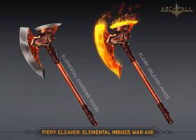 Fiery Cleaver, Elemental imbued war axe