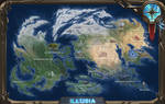 World map of planet Illusia